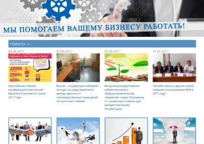 Веб-сайт ГУП СО «Бизнес-инкубатор Саратовской области»